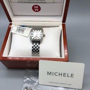 Michele Urban Mini Diamond stainless steel watch
